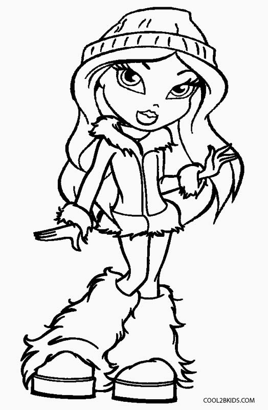 coloring pages bratz dolls - photo#7