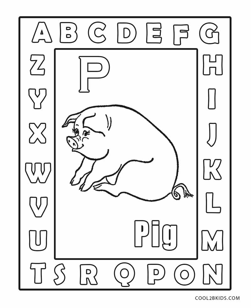 abc free coloring pages - photo#45