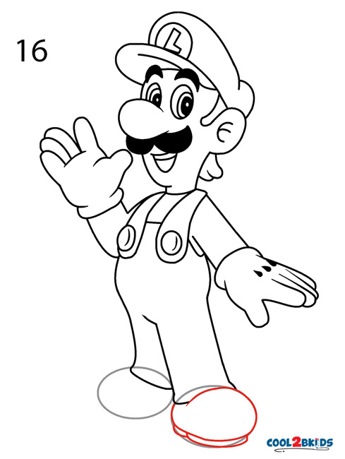 How To Draw Luigi Step By Step Pictures Cool2bkids
