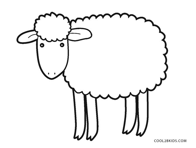 Free printable sheep face coloring pages for kids cool2bkids for Lamb coloring page
