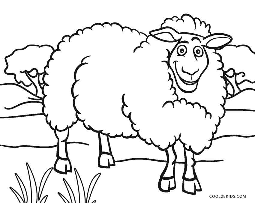 Free Printable Sheep Face Coloring Pages For Kids | Cool2bKids