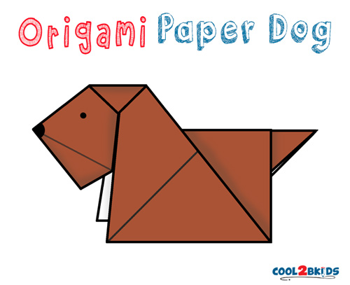 Easy Origami Paper Dog Cool2bkids