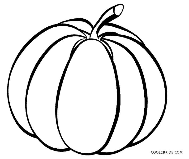 printable blank pumpkin coloring pages - photo#46