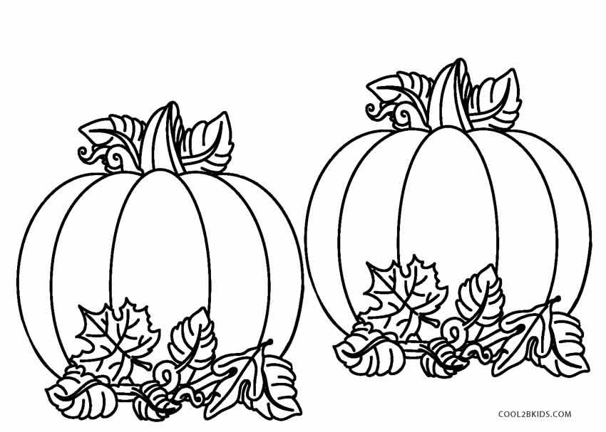 pumpkin leaves coloring pages