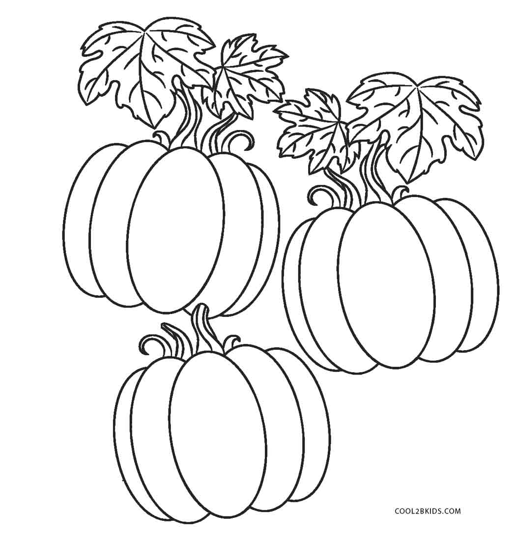 Pumpkin patch coloring pages