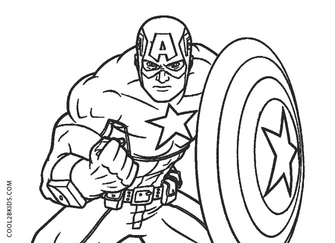 coloring pages captain america free printable captain america coloring pages for kids