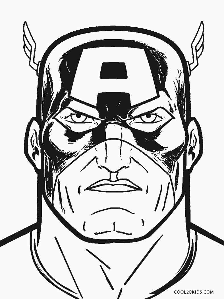 captain america coloring book pages - photo#35