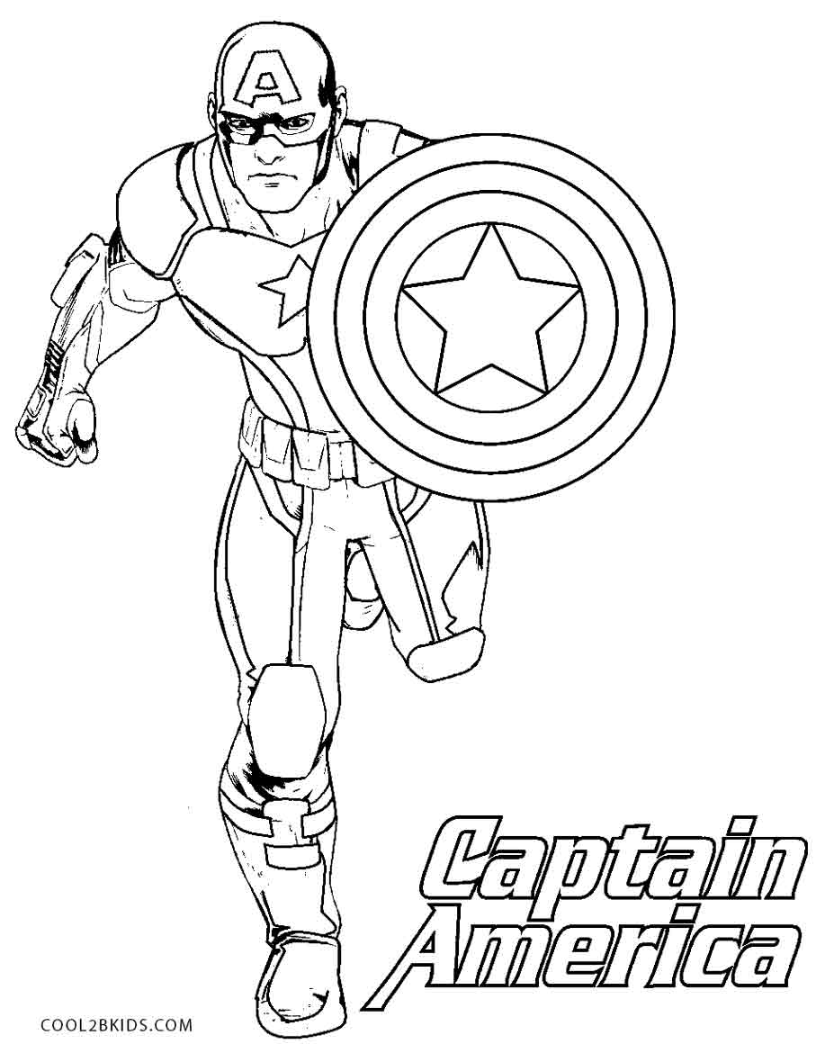 Free Printable Captain America Shield Coloring Pages