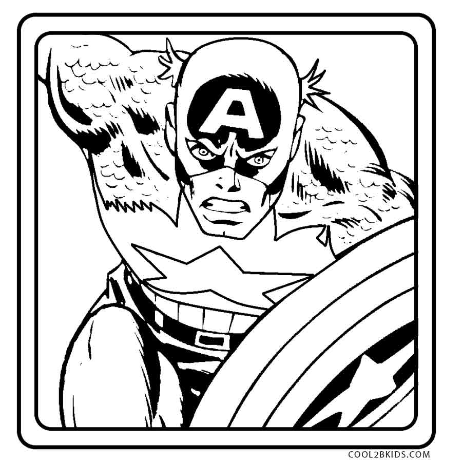 captain america shield coloring pages printable