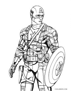 Free printable captain america coloring pages for kids for Captain america the winter soldier coloring pages