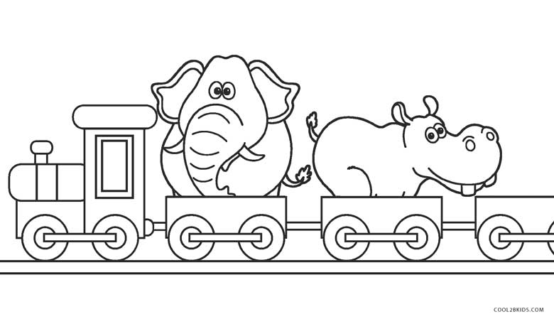 Circus Train Coloring Pages