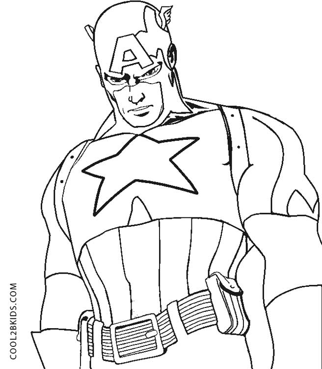 Free Printable Captain America Coloring Pages For Kids | Cool2bKids
