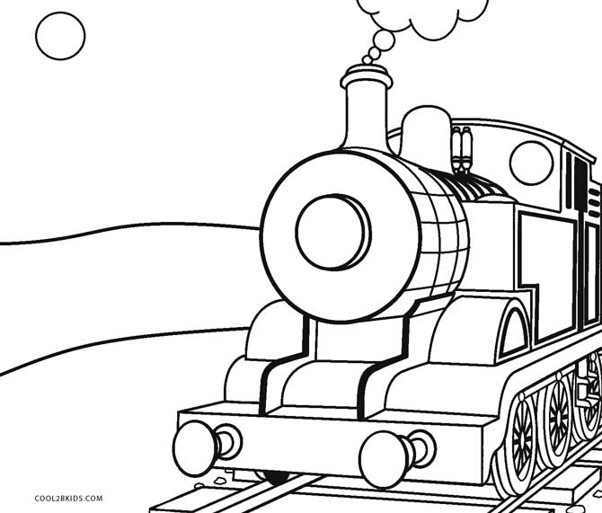 Wild image with printable train coloring page
