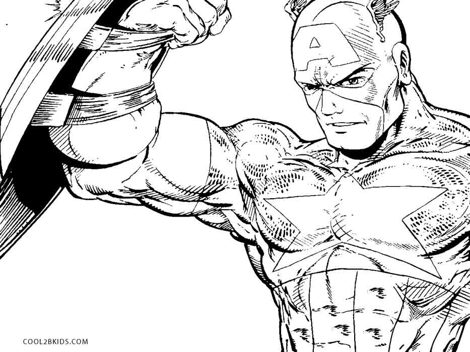 Free Printable Captain America Coloring Pages For Kids ...
