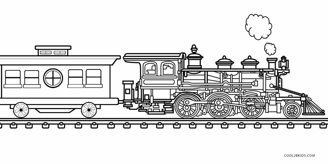 steam engines coloring pages - photo#38