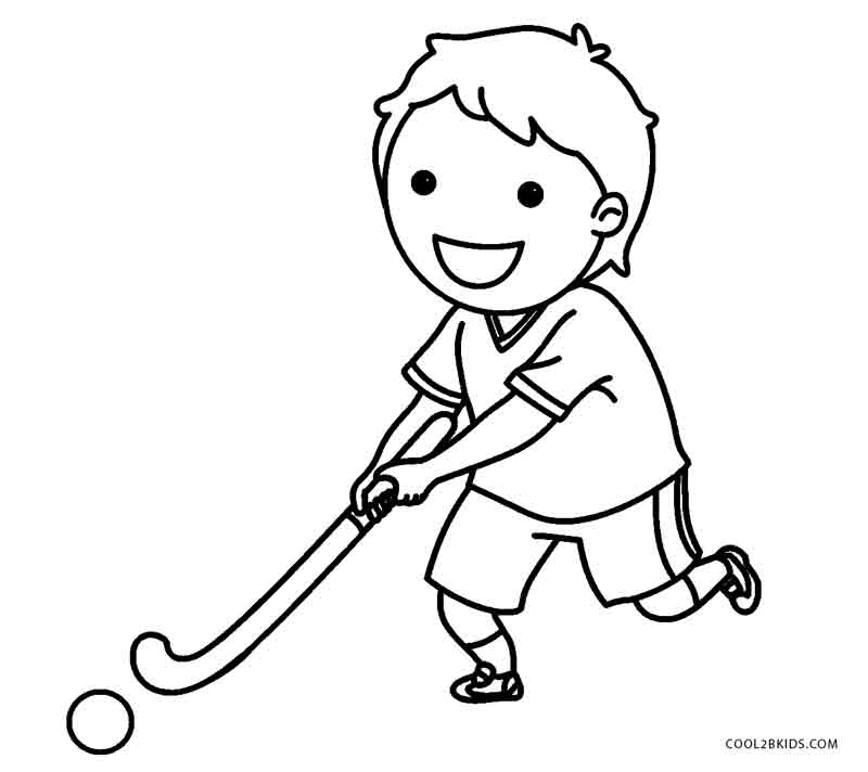 coloring book pages hockey - photo#41