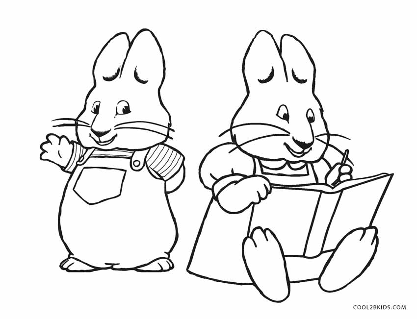 max and ruby coloring pages Free Printable Max and Ruby Coloring Pages For Kids | Cool2bKids max and ruby coloring pages