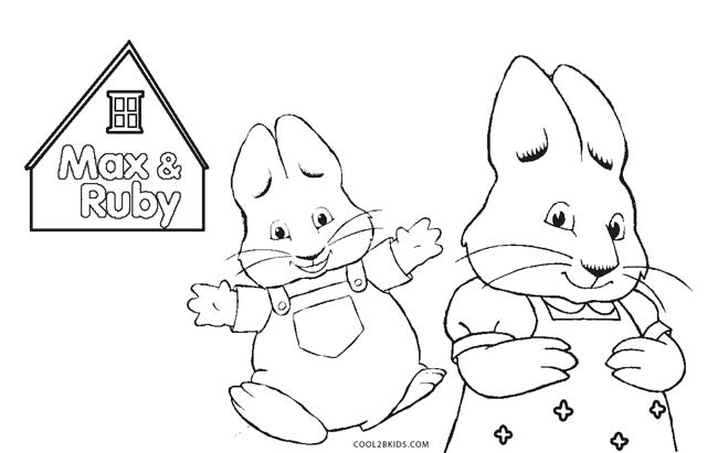 Superior Max And Ruby Coloring Pages Print