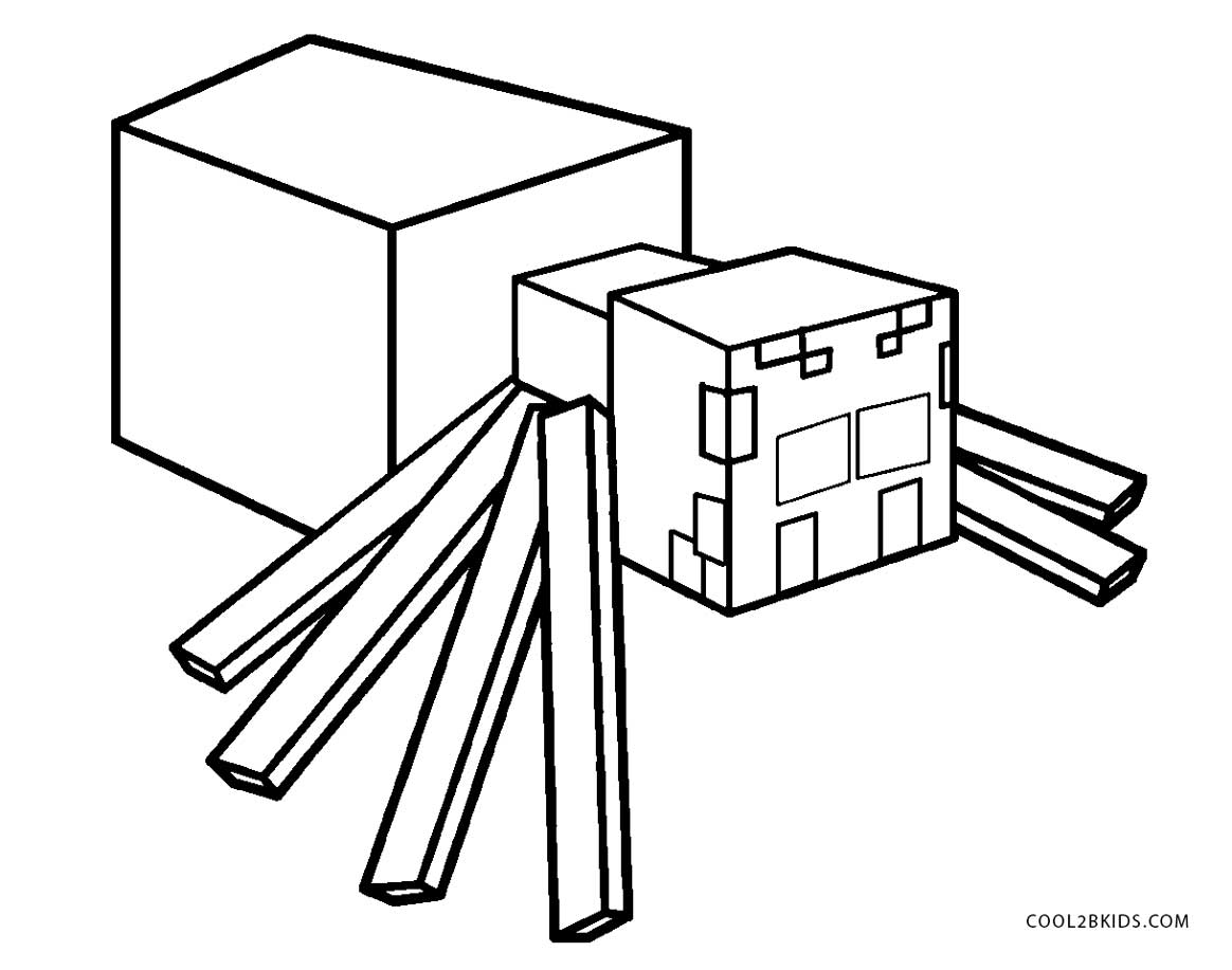 Minecraft Spider Coloring Pages - Bltidm Minecraft Spider Coloring Page