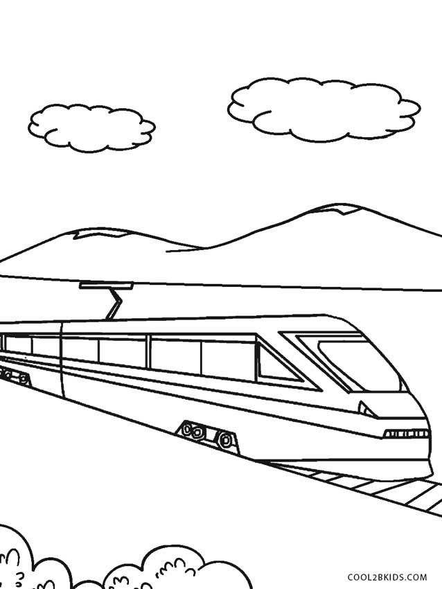 Printable Coloring Pages Trains