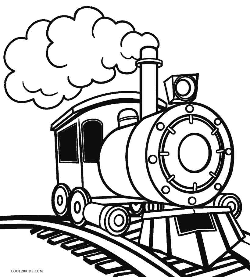 steam engines coloring pages - photo#1