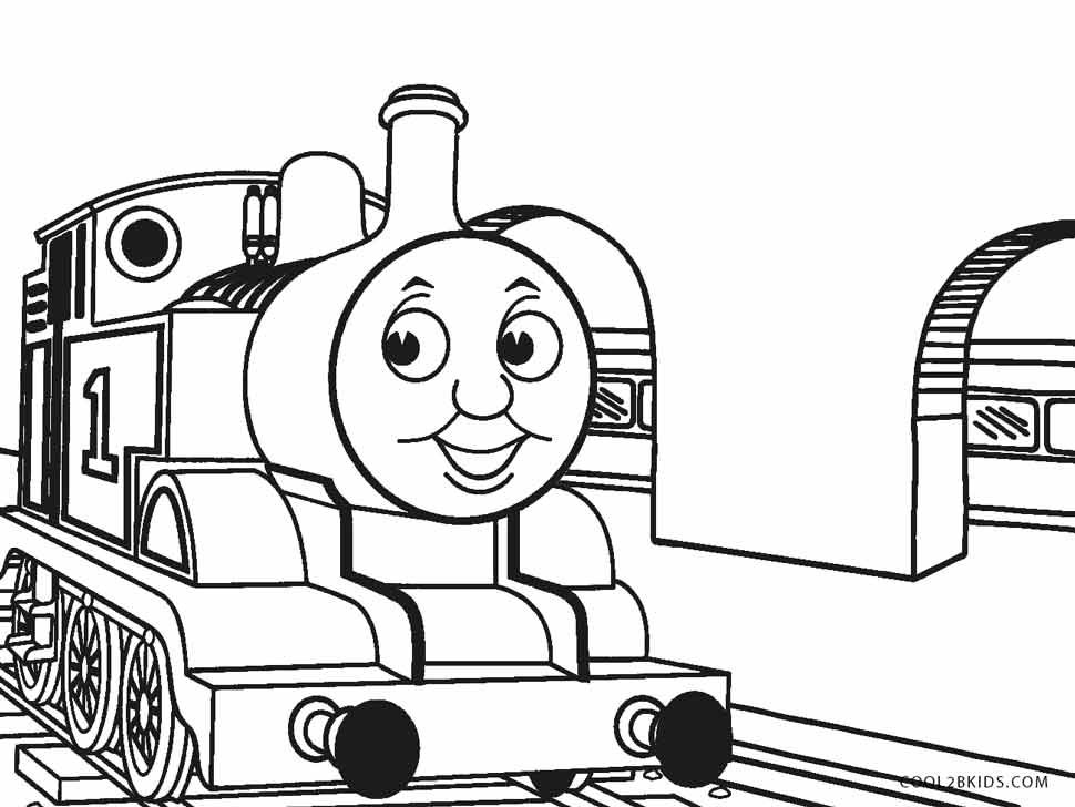 Genius image within printable train coloring page