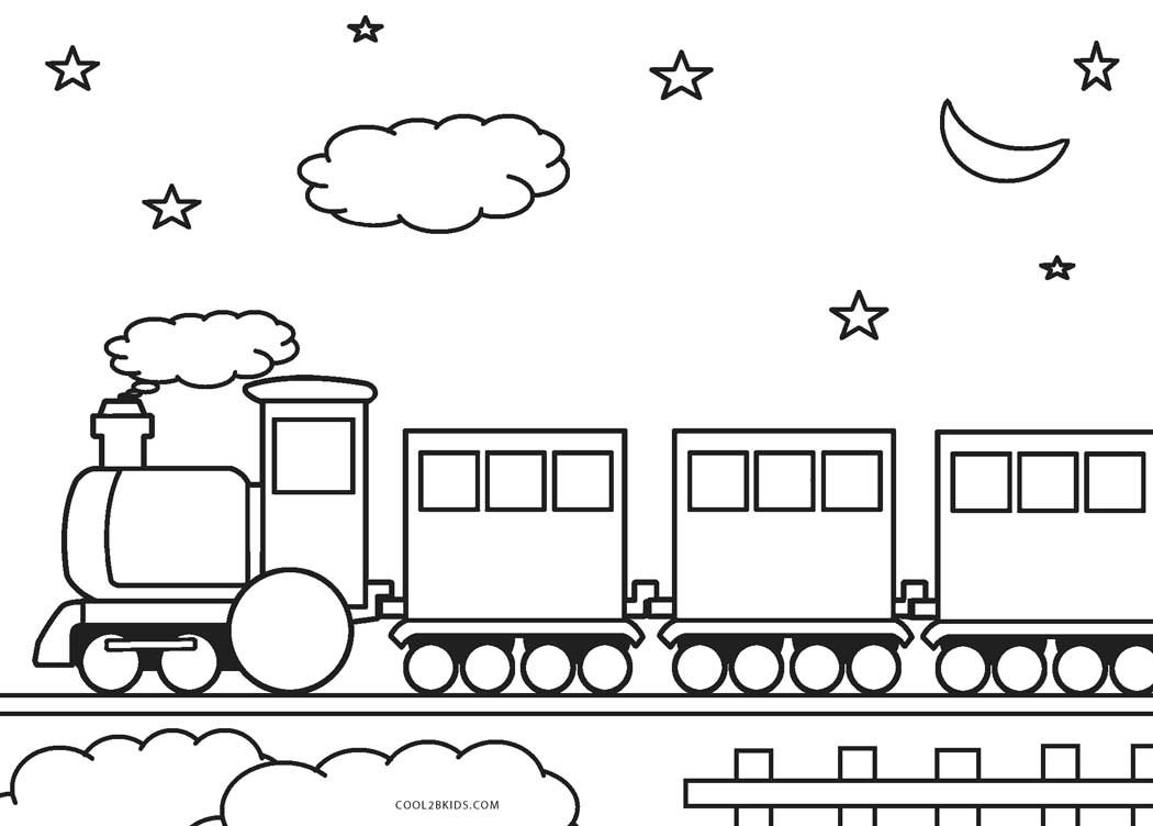 Luscious image intended for printable train coloring page