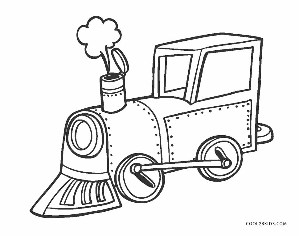 Canny image within printable train coloring page