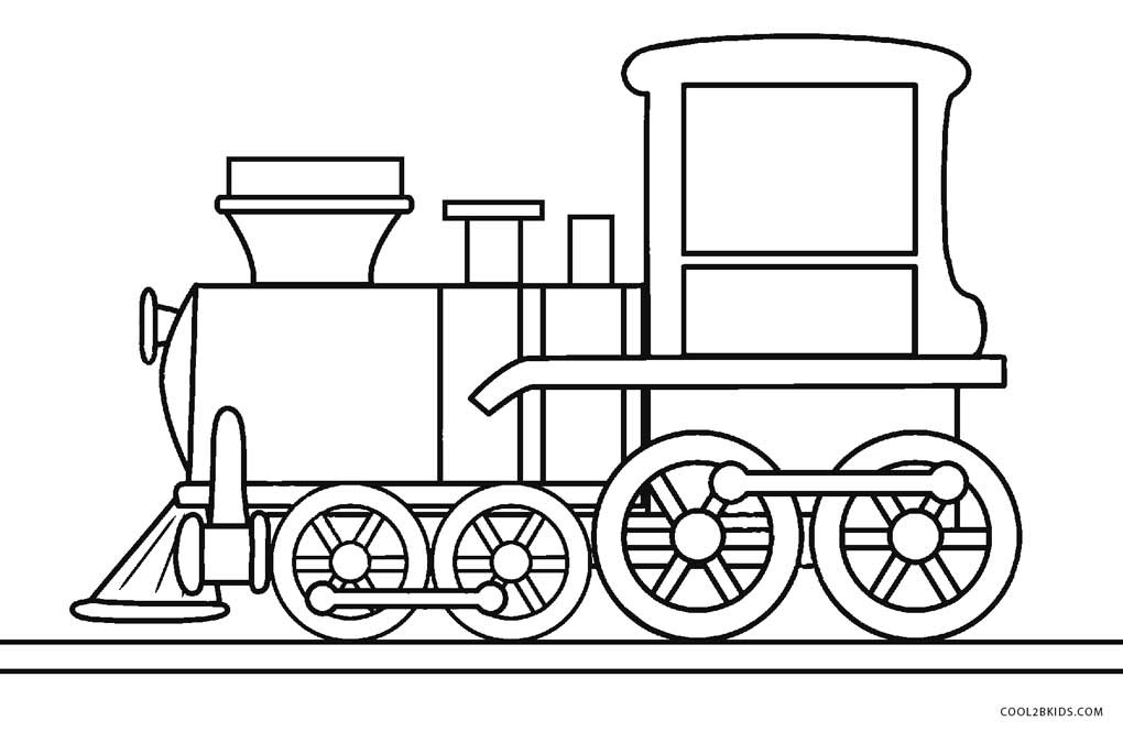 Effortless image regarding printable train coloring page