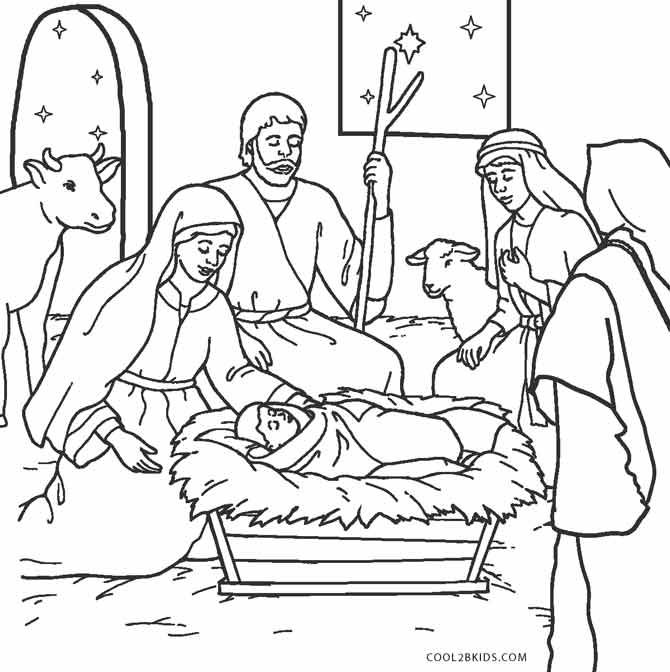 Baby Jesus Coloring Pages Of