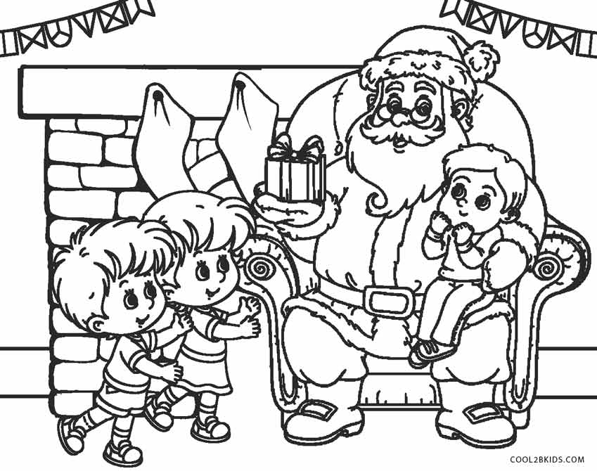 christmas coloring pages santa claus - photo#25