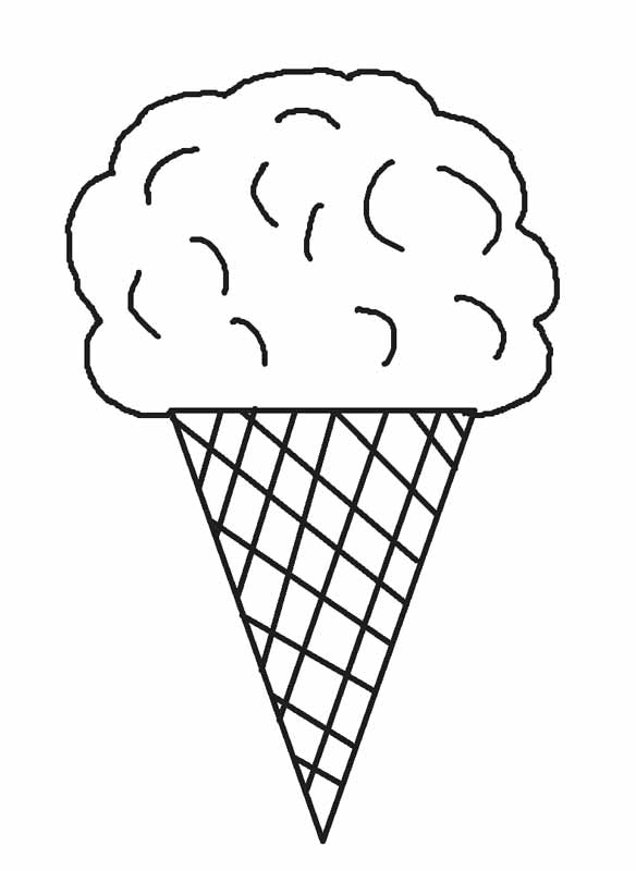 coloring pages ice cream cone - Coloring Page Ice Cream Cone