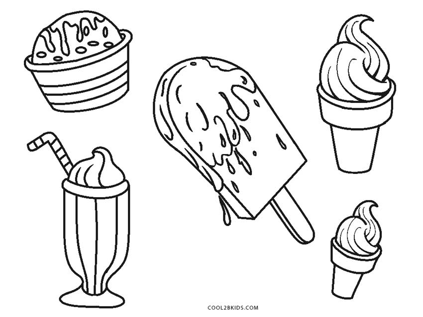 coloring pages ice cream - Coloring Page Ice Cream Cone