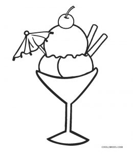 ice cream stand coloring pages - photo#9
