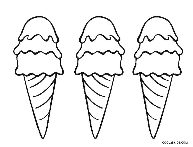 Exceptional Coloring Pages Of Ice Cream Cones