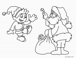 free printable elf coloring pages for kids
