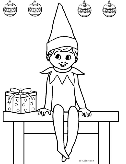 Elf On The Sjelf Coloring Page