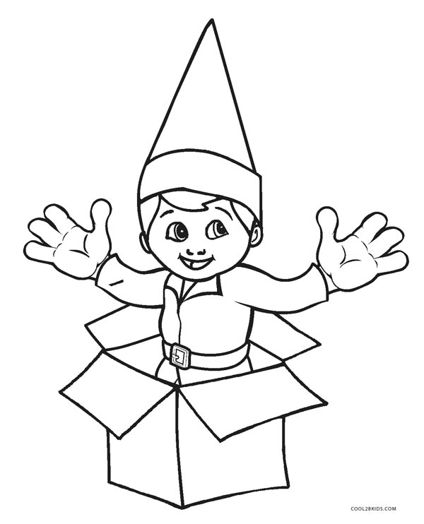Free Printable Elf Coloring Pages For Kids | Cool2bKids