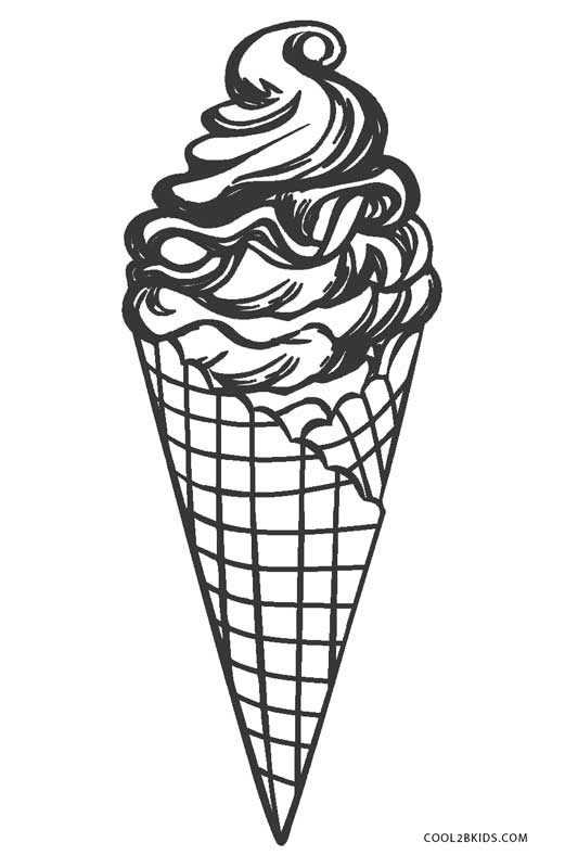 ice cream coloring page - Coloring Page Ice Cream Cone