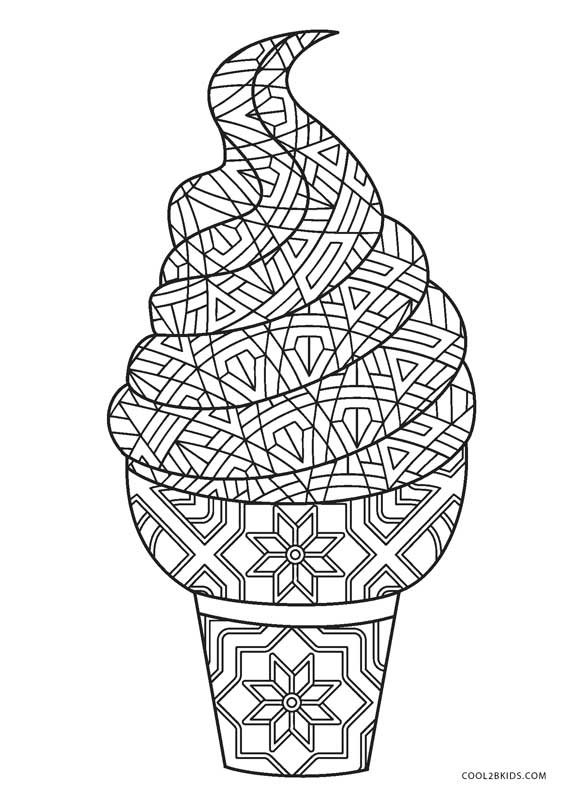 ice cream coloring pages to print - Coloring Page Ice Cream Cone
