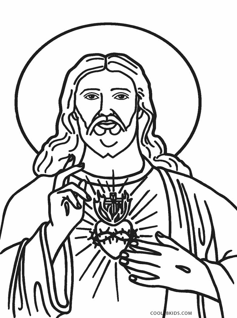 Free printable jesus coloring pages for kids cool2bkids for Coloring pages of jesus