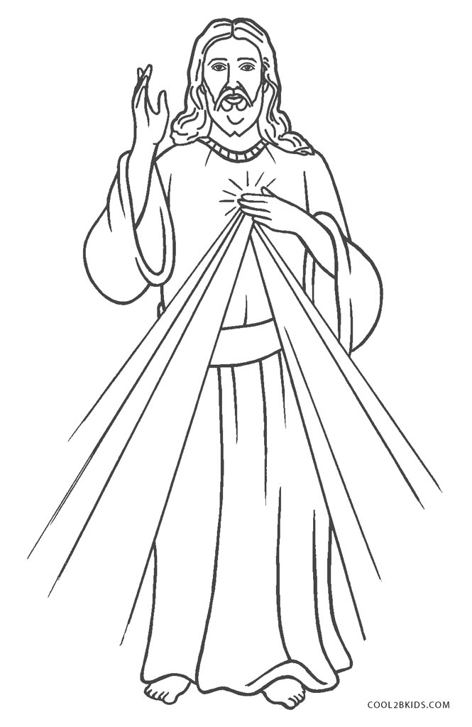 printable coloring pages jesus - photo#1