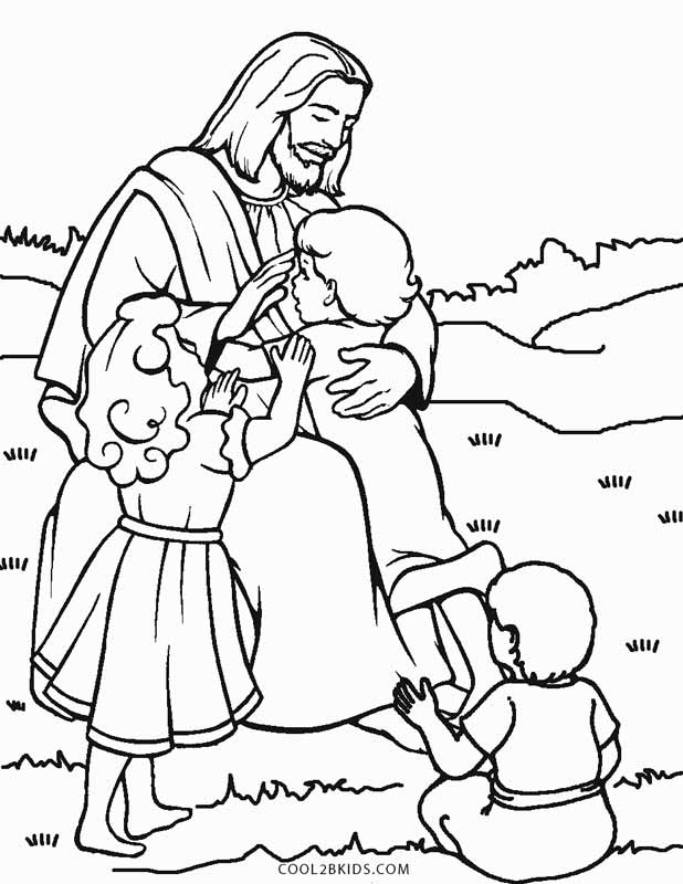 Jesus Loves Us Coloring Page