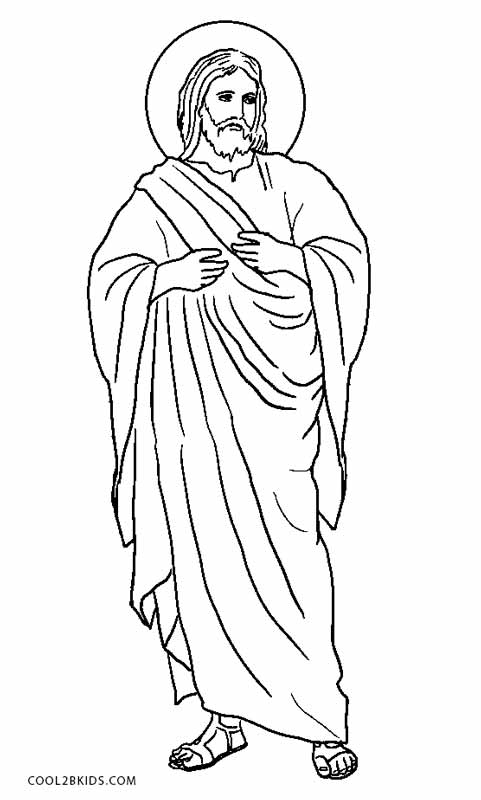 printable coloring pages jesus - photo#2