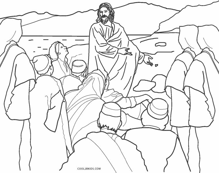 Jesus in the temple coloring pages ~ Free Printable Jesus Coloring Pages For Kids | Cool2bKids