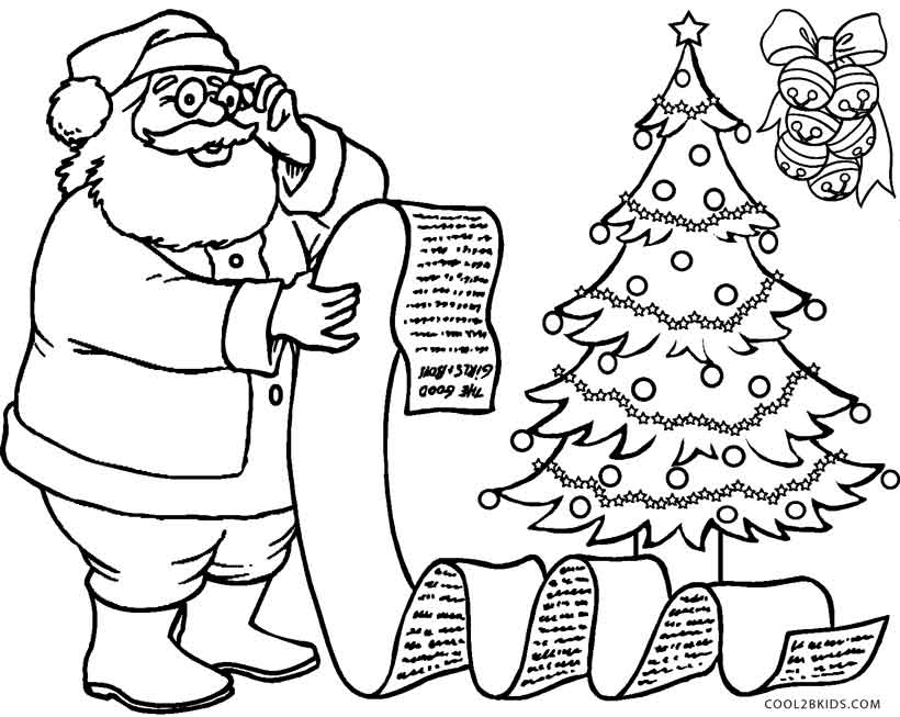 free santa claus coloring pages - free printable santa coloring pages for kids cool2bkids