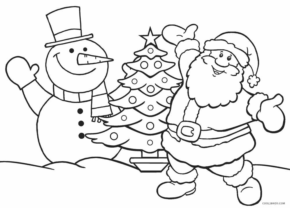 santa coloring pages - Free Holiday Coloring Pages