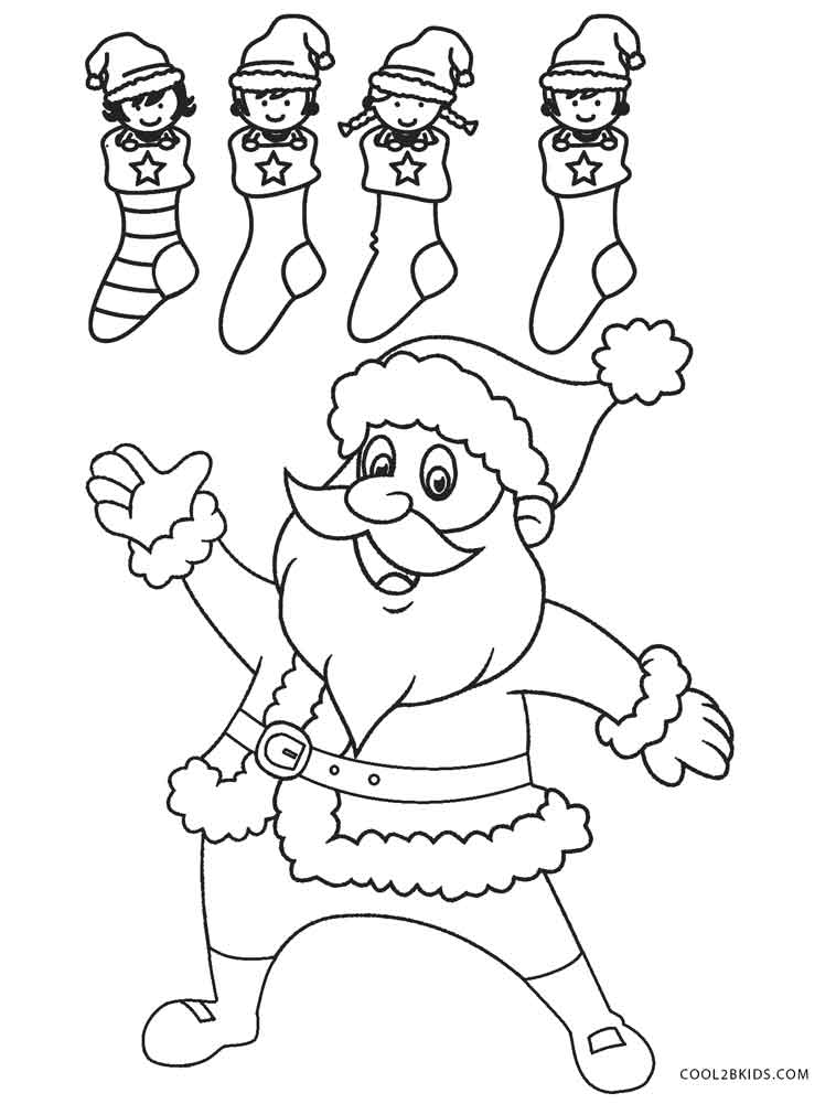 Free printable santa coloring pages for kids cool2bkids for Santa coloring pages free