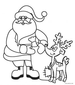 santa and his reindeers coloring pages | Free Printable Santa Coloring Pages For Kids | Cool2bKids
