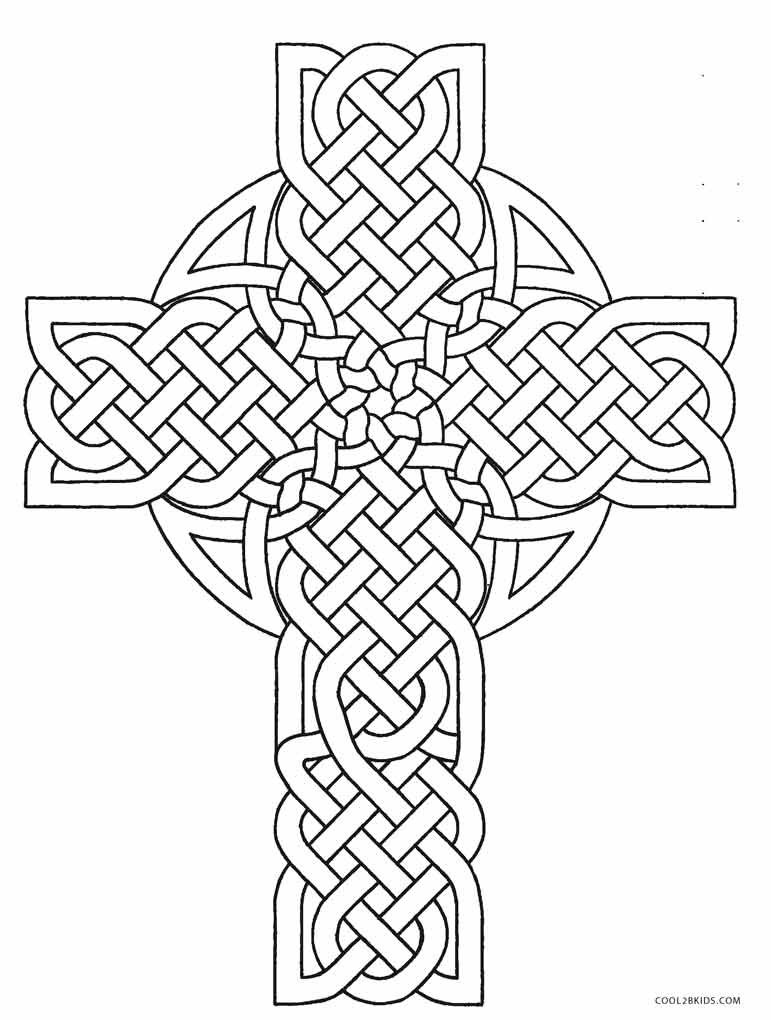 free coloring pages celtic cross - photo#5
